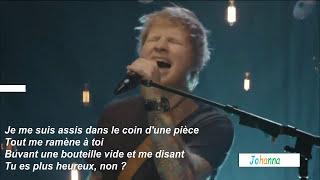 Ed Sheeran Happier traduction française live