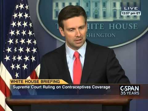 Earnest: 'Constitutional lawyer in Oval Office' disagrees with SCOTUS'