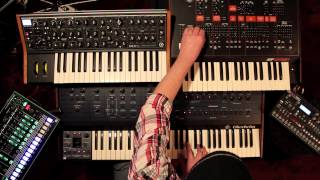 Slow groove with Oberheim, Roland, Moog, Elektron and ARP