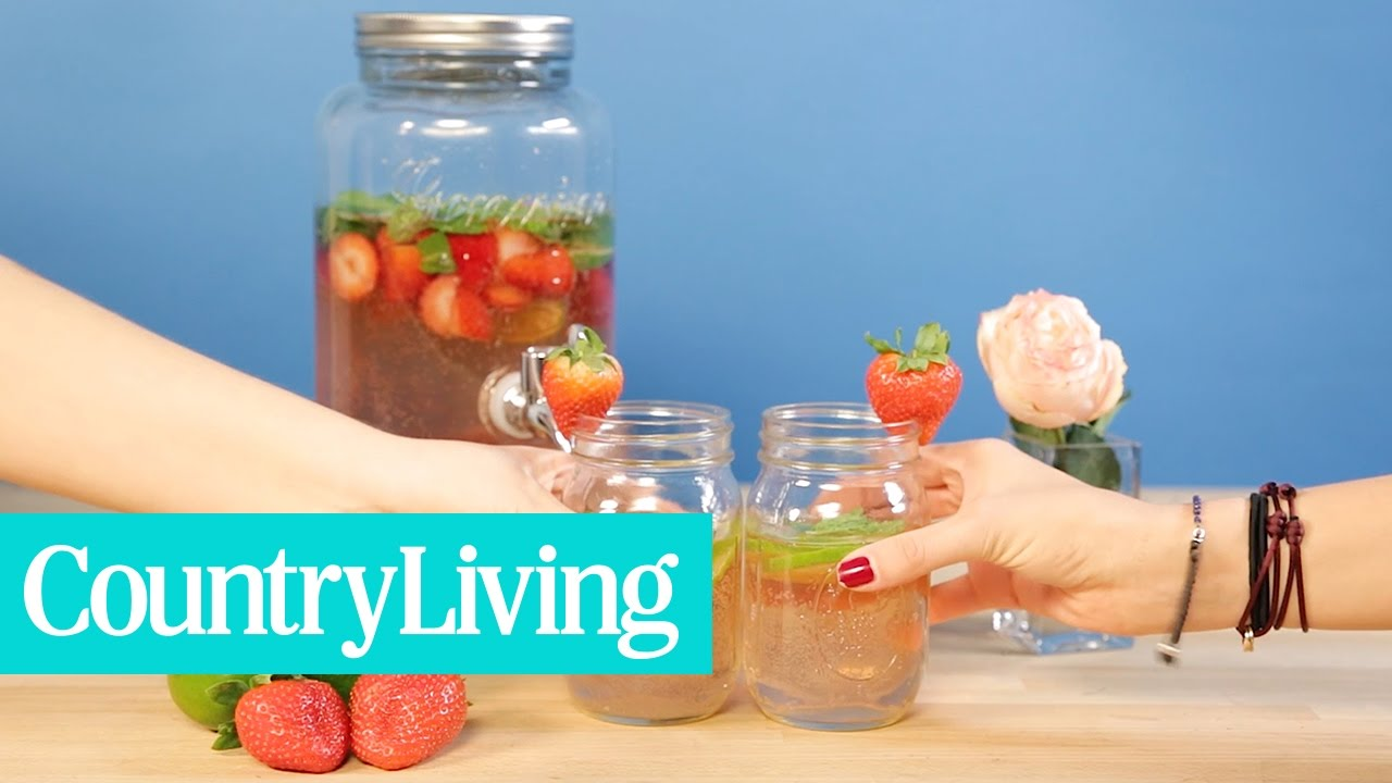 Strawberry Rhubarb Sangria | Country Living