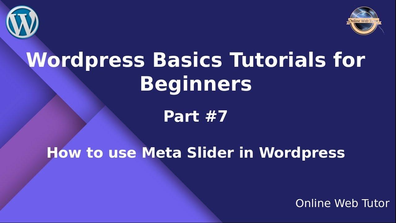 Learn wordpress basics tutorial for beginners (part#2) wordpress.