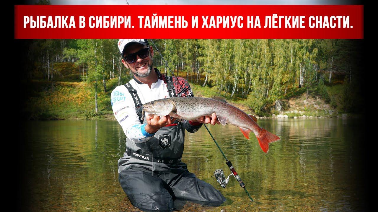 Рыбалка в Сибири. Таймень и хариус на лёгкие снасти.