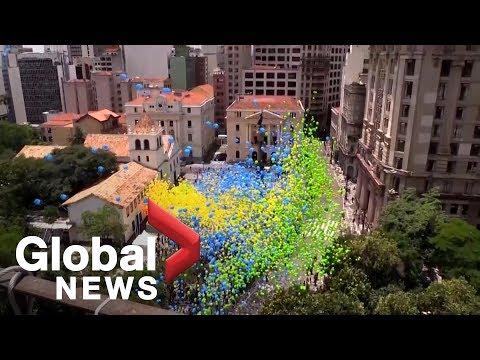 50K balloons released over Brazil to mark end of 2018