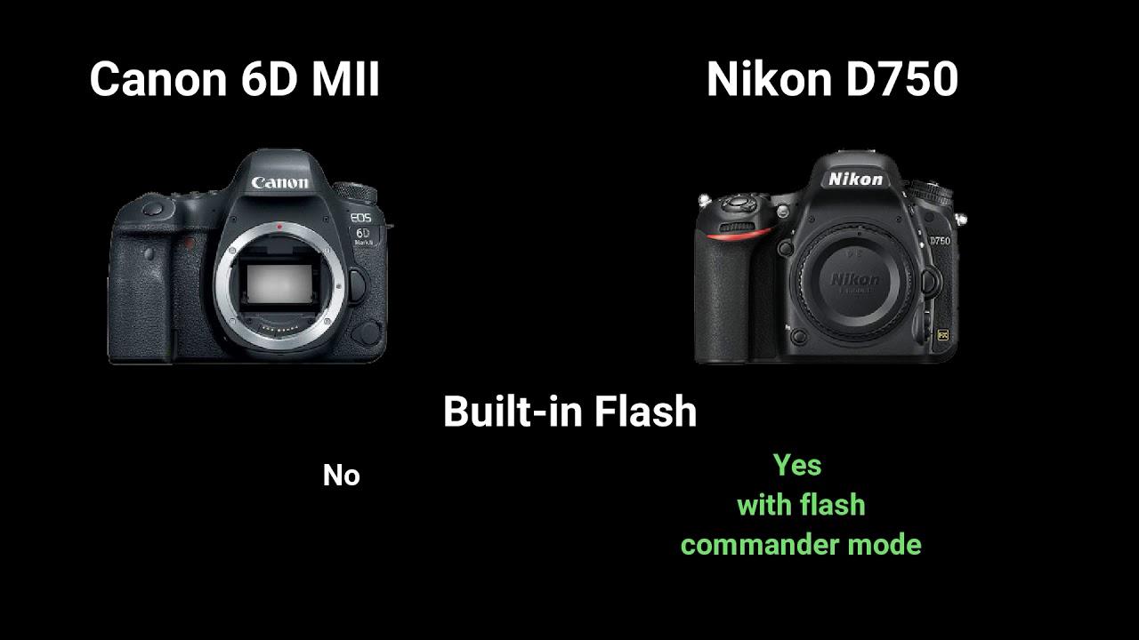 Canon 6D Mark II vs Nikon D750 - YouTube