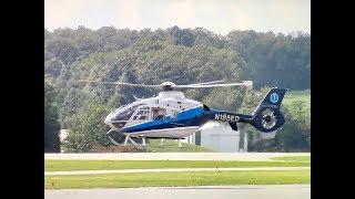 Medevac Eurocopter EC135 Landing and Taking Off at Carroll Regional Airport