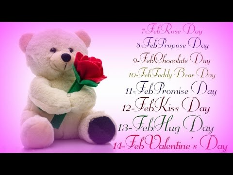7 Days Of Love  - Valentine's Week Greeting, SMS, best Wishes, whatsapp Video