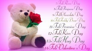 7 Days Of Love  - Valentine's Week Greeting, SMS, best Wishes, whatsapp Video