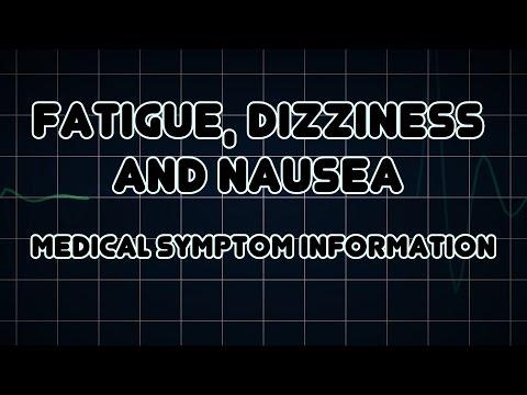 Fatigue Dizziness And Nausea Medical Symptom