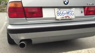 BMW E34 540i V8 Exhaust Muffler Delete