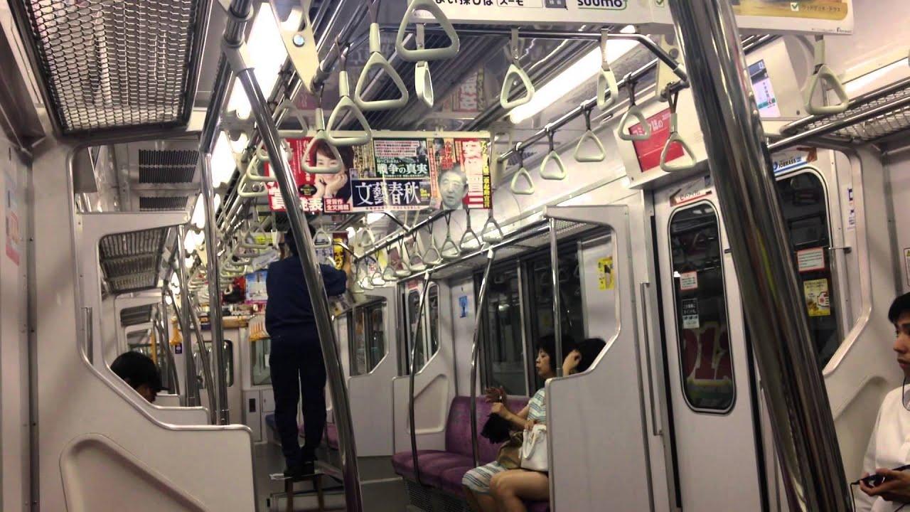 電車広告張替え作業の様子 Train Ad Poster Changing - YouTube