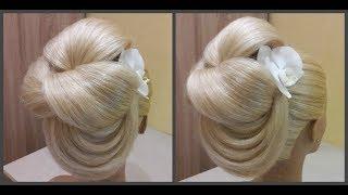 Быстрая легкая вечерняя и праздничная прическа🎄Fast, easy hairstyle for evening or holiday