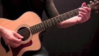 Aaron Lewis - What Hurts The Most - Acoustic Guitar Lesson