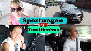 Abschied mit Tränen wegen Auto - Neues Auto -Familienbus vs Sportwagen - Vlog#976 Rosislife