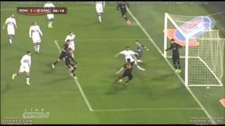 AS Roma vs Sampdoria 1-0 Goal! Vasilis Torosidis! Coppa Italia - HD - 2014