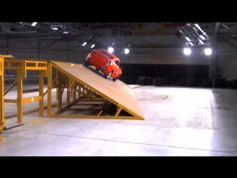 Bmw Safety Innovations X6 Rollover Test Youtube