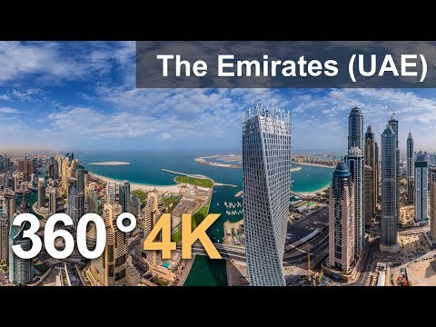 360°, The Emirates (UAE). 4K aerial video