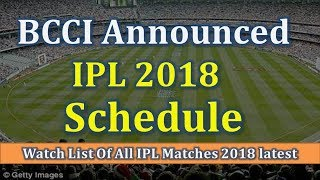 IPL 2018 Complete Match Schedules  Fixtures Timings & Venues for IPL 2018