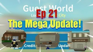 Roblox Guest World Beta Ep 21 The Gun Shop and more!!!
