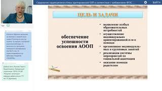 Данильченко С.М. Содержание коррекционного блока адаптированной ООП в соответствии с ФГОС