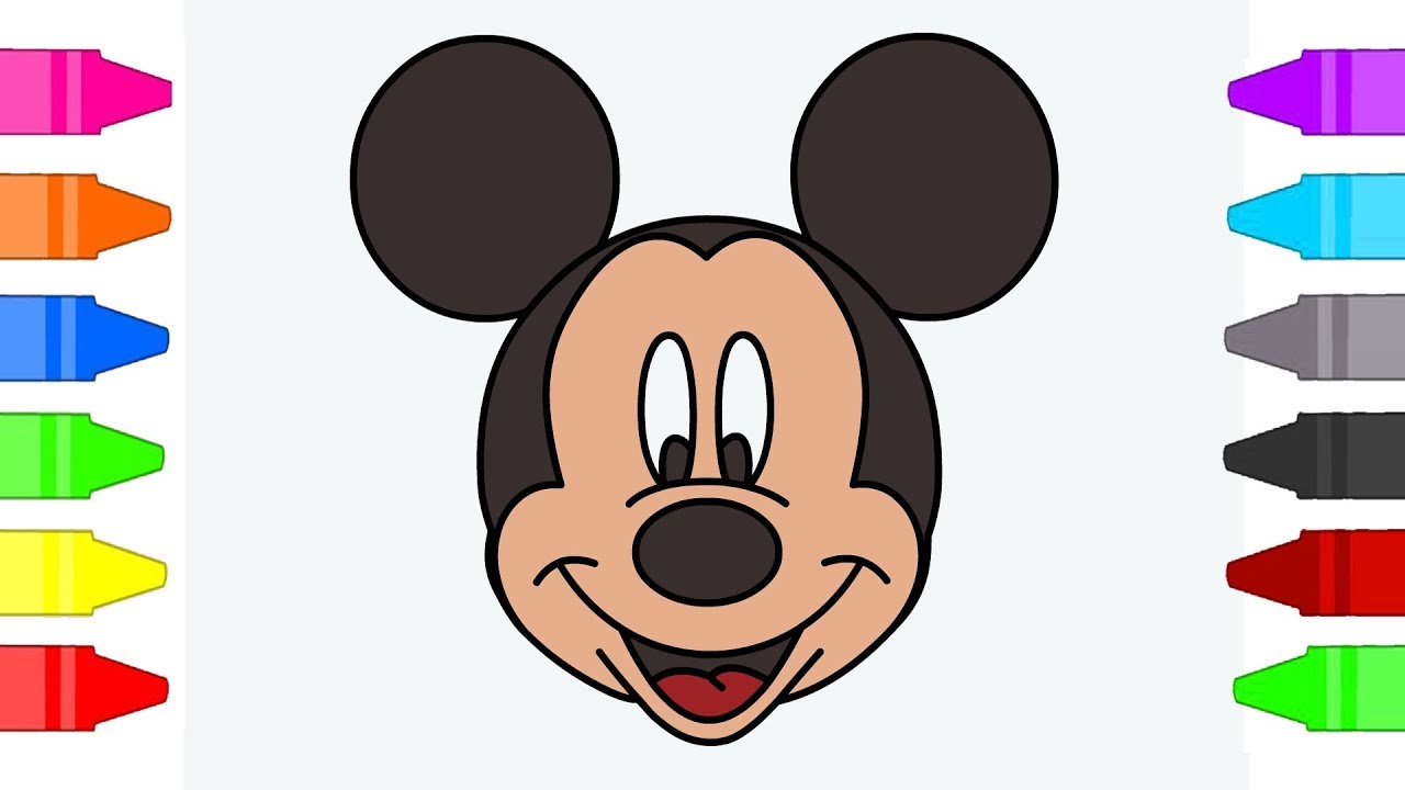 Mickey Mouse Coloring Pages For Kids Cartoon Coloring Book For