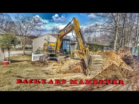Backyard Excavation Project - Cat 312E
