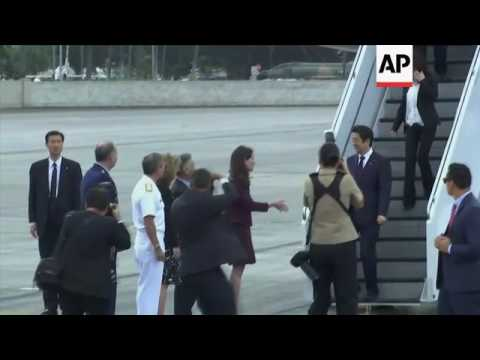 Japanese PM arrives for Hawaii visit