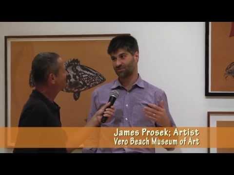 Artist James Prosek at Vero Beach Museum of Art