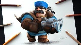 Como dibujo al Cazador de Clash Royale | How to draw Hunter