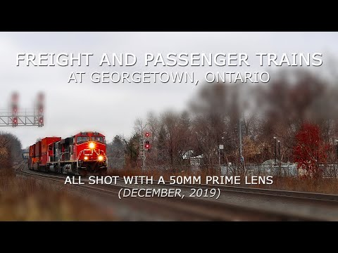 Freight and Passenger Trains At Georgetown, Ontario (All Shot with A 50MM Prime Lens)