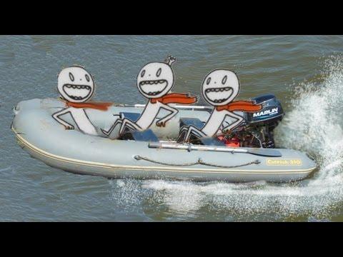 ПВХ Catfish 310 под Marlin 9.8 трое в лодке