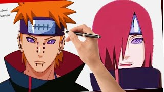 Speed Drawing - Pain | Nagato (Naruto).
