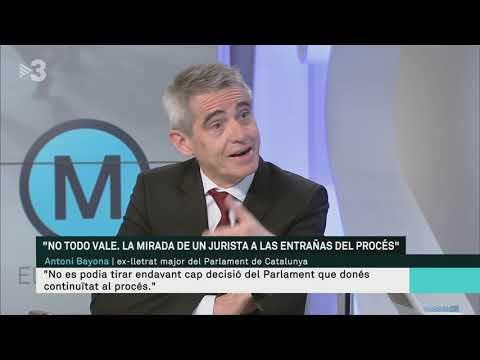 Antoni Bayona, ex-lletrat major del Parlament, parla sobre el procés