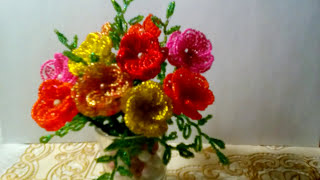 Легкие цветы из бисера для начинающих КРАСКИ ЛЕТА!!! Бисер схема