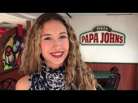Isabel pays with Dash Digital Cash at Papa John's Pizza in Caracas, Venezuela