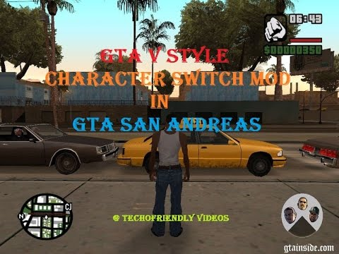 How To Install Gta V Style Character Switch Mod In Gta San Andreas In A Single Step