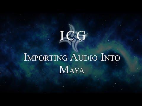 Import Audio into Maya Tutorial