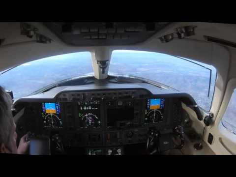 Monterey Night Flight in a Private Jet-ATC and Multi-cam