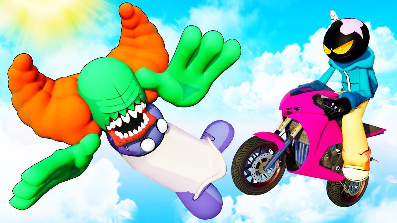 Tricky & Whitty in GTA 5: Crazy Ragdolls [Friday Night Funkin'] - Episode 41
