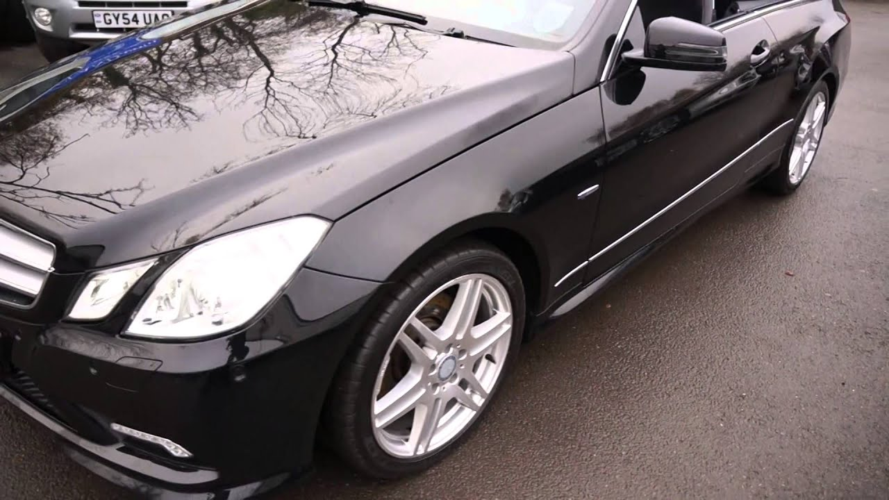 2010 10 mercedes e350 cdi amg sport coupe diesel black mercland youtube. Black Bedroom Furniture Sets. Home Design Ideas