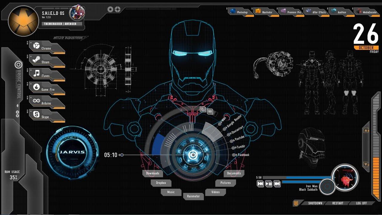 How to Install The Jarvis (Iron Man) Theme on Windows 8 / Windows 10 - YouTube