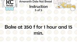 Amaranth Date Nut Bread - Kitchen Cat