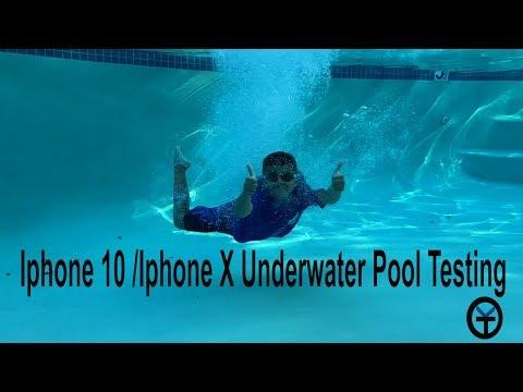 @Apple Iphone X 10 Underwater Pool Testing The IP67 Water Resistance
