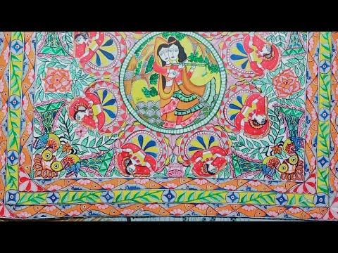 RAAS (रासलीला) #ktisna#painting#mithila#tutorial#madhubani#gopi#kinara#parh#radha#attractive#olympic