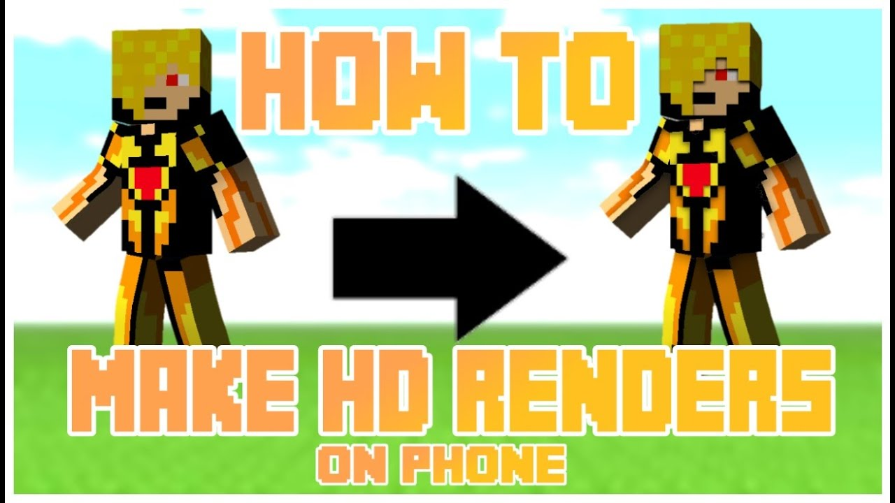 HOW TO MAKE HDREALISTIC MINECRAFT SKIN RENDERS ON YOUR PHONE - Minecraft skins fur android