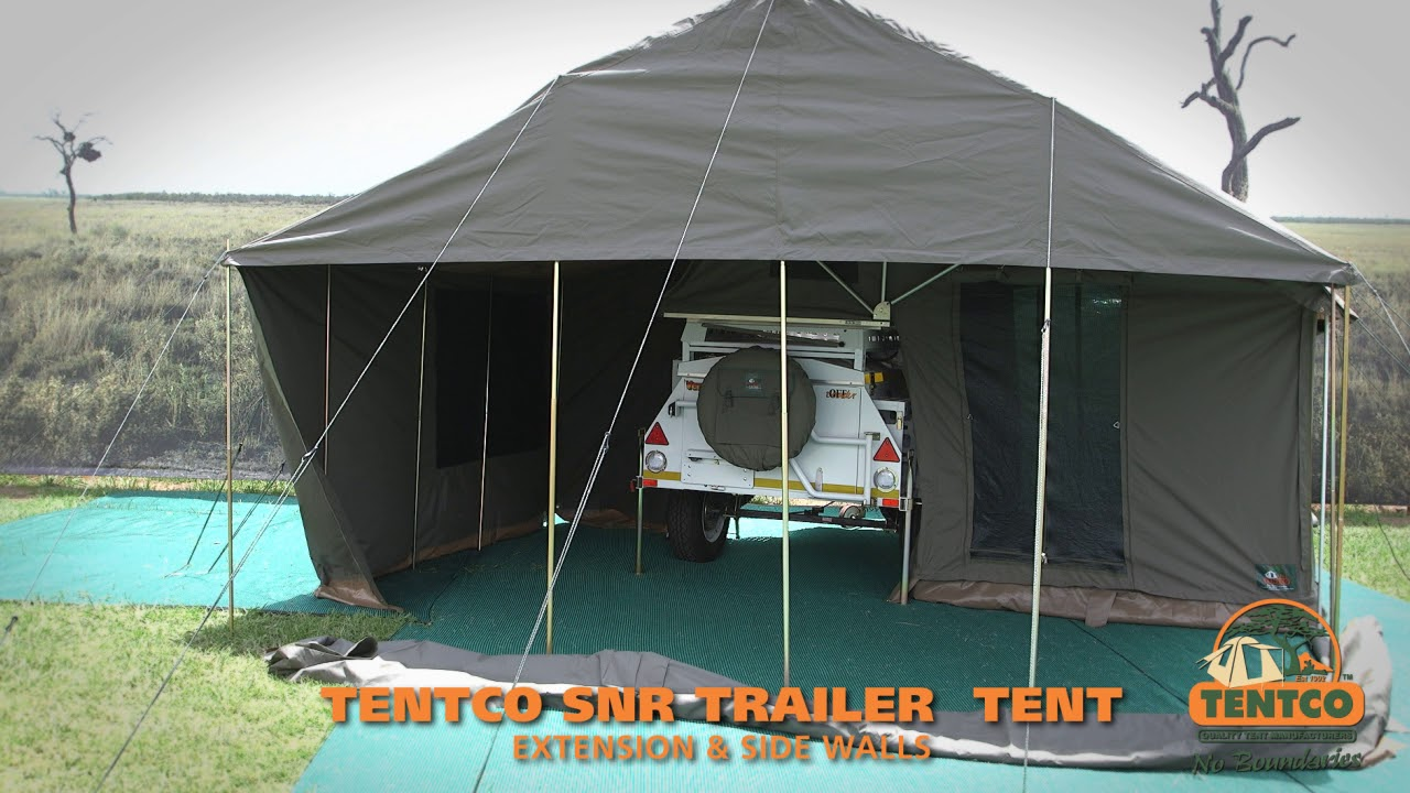 Tentco Trailer Tent Ext Sidewalls Youtube