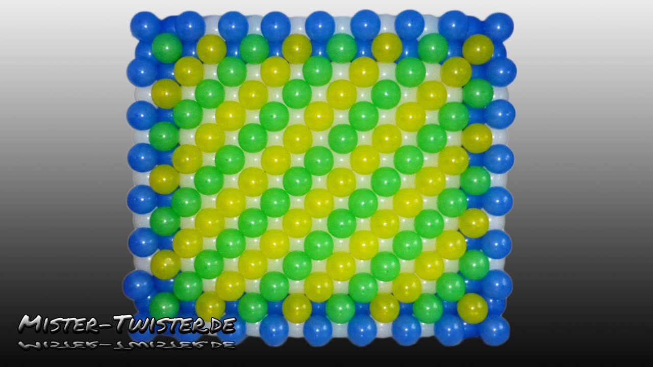 How to make a balloon wall anleitung f r eine ballon w for Balloon decoration how to make