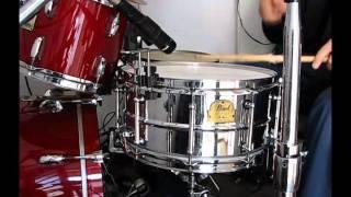 Pearl Ian Paice Signature Snare - Sound Test