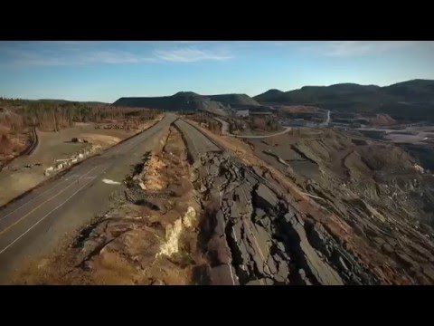 Effondrement De La Route 112 - Thetford Mines, Quebec
