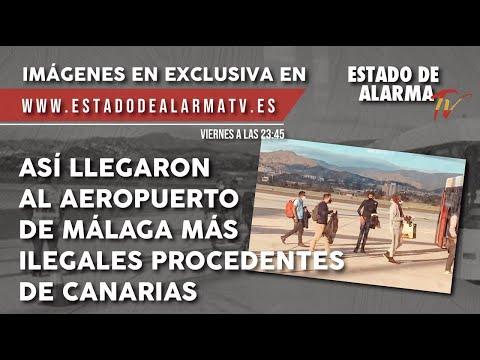 Invasores llegando  al aeropuerto de Málaga procedentes de Canarias