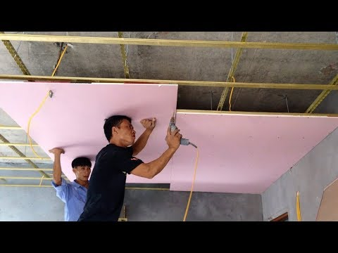 Installation Plaster Ceiling Bedroom - House Construction Decorate Ceiling